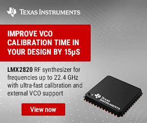 Texas Instruments Lmx2820 300x250 Ed 102720 Kmr