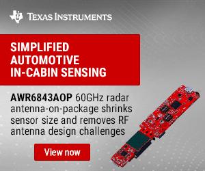 Texas Instruments Awr6843aop 300x250 Ed 021121 Kmr